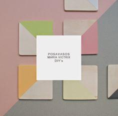 DIY: Cómo personalizar posavasos DIY: Wooden and colorful coasters