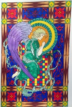 Angel Coloring Book by Angie F. Michelli Trotter - Colour with Claire Colouring Book Review