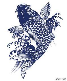 ベクター: 日本的な鯉点