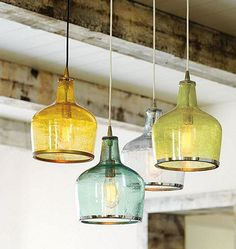 I love this vintage pendant lighting from Ballard Designs. The Addie Pendant is charming and grouping them adds a nice splash of color to the room. #LGLimitlessDesign #Contest