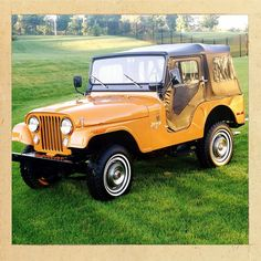 Bright bold and ready for adventure. The 1973 CJ-5. #Jeep75 #TBT