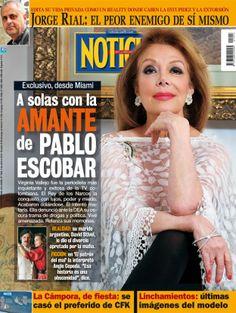 Virginia Vallejo, la amante de Pablo Escobar, en la tapa de revista Noticias que sale esta noche