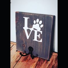 Dog leash holder rustic reclaimed wood dog by palletinspirations