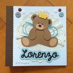Diário do bebê em scrapbook (visão geral da decoração)