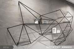 Amazing iron wall sculpture/shelving