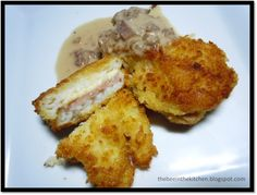 One of the most fun things to prepare, ever. Cordon Bleu is usually made with chicken, and sometimes even, with pork but very seldom with . Cordon Bleu, Fun Things, Seafood, French Toast, Pork, Bee, Fish, Chicken, Cooking