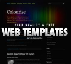 38 Free XHTML/CSS Website Templates