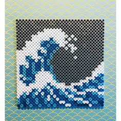 Ocean cross stitch.