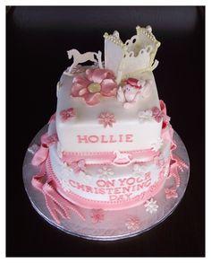 Crib christening cake