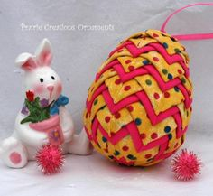 Quilted Egg Layered Easter Ornament | Craftsy