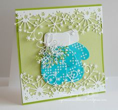 Pam Sparks: MB Mittens handmade Christmas card