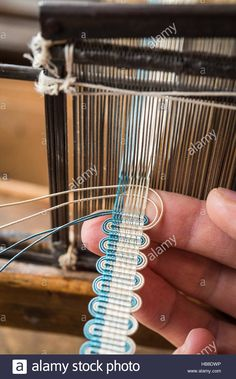 Image result for weaving passementerie Card Weaving, Tablet Weaving, Inkle Loom, Loom Weaving, Textiles Techniques, Weaving Techniques, Weaving Textiles, Tapestry Weaving, Types Of Weaving