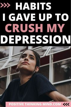 My depression stuck around because I was doing the same thing over and over; it was a cycle.  I continued these #badhabits which made my depression remain in control, it disrupted my #happiness, and my misery became worse. I finally recognized the bad habits and I was able to change my life and cope with my #depression. #depressed #depressionsymptoms #depression tips  #positivethinkingmind