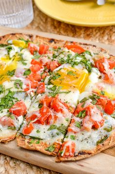 Slimming Eats Syn Free Breakfast Pizza – Vegetarier, Slimming World und Weight Watchers freundlich Syn Free Breakfast, Breakfast Wraps, Breakfast Time, Breakfast Pizza Healthy, Healthy Pizza Recipes, Healthy Meals For One, Vegetarian Recipes, Cooking Recipes, Brunch Recipes