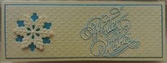 Tattered Lace sentiment used on this Christmas card by Lynne Lee.