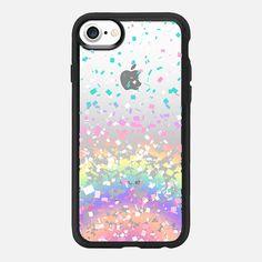 Pastel Rainbow Confetti Explosion Transparent  -