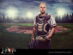Baseball Portrait :: High School Senior Photography ::Central Valley Photographer ::  La Bella Vita Photography Inc  ::Fresno Photographer