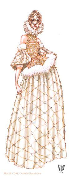 Illustration of Alexander McQueen
