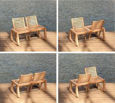 The Double View Bench by Chloe De La Chaise, made mainly from sustainably woods from France.