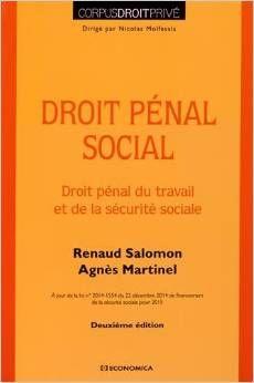 Droit pénal social : droit pénal du travail et de la sécurité sociale