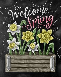 Spring Art Welcome Spring Daffodil Art Chalk Art by TheWhiteLime  http://www.fl34.ru/art_7/707231267 - новинки https://faberlic.com/register?sponsor=1000425410886 -- подписаться в мою команду для работы ОНЛАЙН  http://masterdama.ru - мой блог