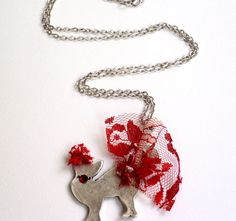 Antique silver plated embellished cat by HirasuGaleri on Etsy, $18.00