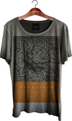 Camiseta Relax - Rose Star 100% algodão. Corte diferenciado a fio nas mangas e…