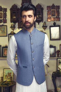 Waiscoats Mens Indian Wear, Mens Ethnic Wear, Indian Men Fashion, Mens Fashion Suits, Salwar Kameez Mens, Kurta Men, Waistcoat Men Casual, Men's Waistcoat, Man Dress Design