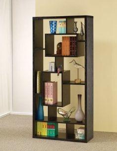 Amazon.com: Room Divider Shelf In Black Oak Finish by Coaster Furniture: Furniture & Decor