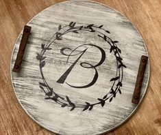 Excited to share this item from my shop: Custom Monogram Round Barrel Lid Wood Lazy Susan Woodworking Joints, Woodworking Workbench, Workbench Vise, Kids Woodworking, Woodworking Supplies, Woodworking Videos, Woodworking Projects, Round Wooden Tray, Wood Tray