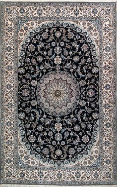 "Nain Persian Rug, Buy Handmade Nain Persian Rug 6' 6"" x 10' 4"", Authentic Persian Rug."