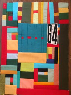 Love Laugh Quilt: Beth's birthday quilt; love the solids and the piecing