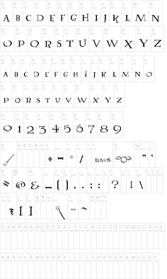 The Lumos font! (Harry Potter secondary font) There aren't enough exclamation points in the world to describe how happy this makes me.