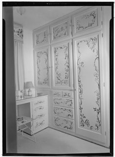 stencil for closet door - Google Search