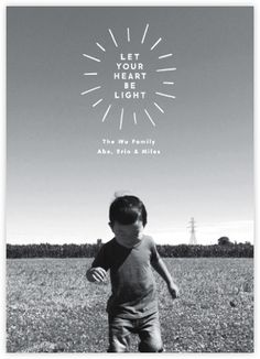 Heart Be Light (Photo) - Paperless Post