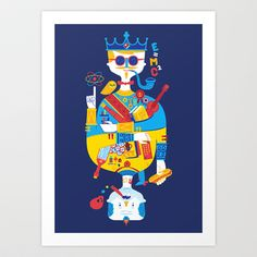 Jack of Smarts (Knave of Slobs) Art Print by Wharton - $20.00