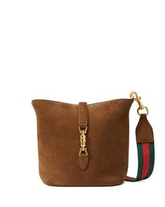 Gucci Jackie Brown Soft Suede Ombre Bucket Bag - $2,300.00