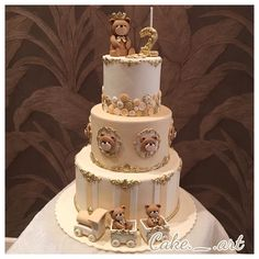 #cake#birthdaycake#teddy Baby Birthday Cakes, Baby Boy Cakes, Cakes For Boys, Baby Shower Cakes, Wedding Cake Designs, Wedding Cakes, Beautiful Cakes, Amazing Cakes, Torta Angel