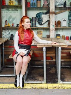 Blogger Twenty-Something City red leather biker dress street style Cain and Grain Manchester Manchester Northern Quarter, Biker Jackets, Instagram Outfits, The Twenties, Red Leather, Hipster, Punk, Street Style, City