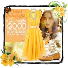 """LDS YW Value - Choice and Accountability"" fashion board"