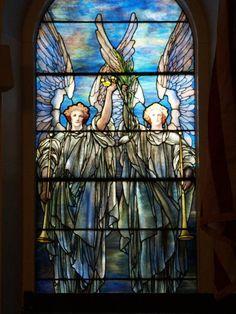Description: Lockport, New York (NY): First Presbyterian Church: angels (1910, Tiffany Studios)