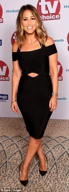 Sizzling: S Club star Rachel Stevens wowed on the carpet in a slim-fitting bandage dress with racy stomach cutout Catherine Tyldesley, Rachel Stevens, Black Suits, Choice Awards, Hair Inspo, Autumn Fashion, Hair Cuts, Carpet, Celebs