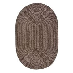 The Conestoga Trading Co. Handmade Dark Taupe Indoor/Outdoor Area Rug Rug Size: Round 10'