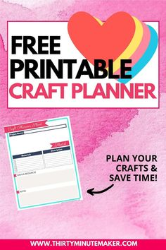 This handy worksheet is 8.5 x 11 - perfect for keeping in a binder.  Note down your project name, details, materials used, and there's even a space for a sketch! #planyourcrafts #diyplanner