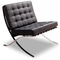 The Mies Van Der Rohe style Barcelona leather chair
