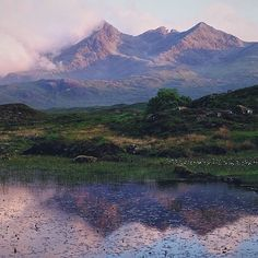 The little town of Sligachan in the Isle of Skye, Scotland. by@celtic__wanderer