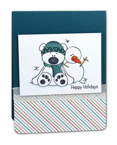 Winter Buddies Card - click through for project instructions.