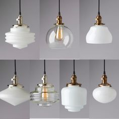 Apartment Lighting, Bedroom Lighting, Glass Pendants, Kitchen Design, Ceiling Lights, Ideas, Home Decor, Decoration Home, Design Of Kitchen