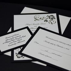 simple elegant wedding invitations - Google Search
