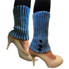 crochet ridged leg warmers